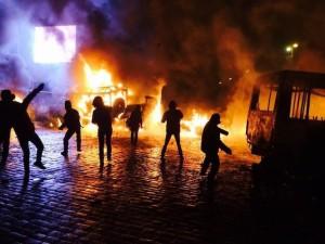 Ночные беспорядки в Киеве
