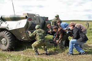 Журналисты в зоне боевых действий